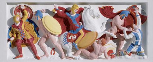 Alexander Sarcophagus in color, detail