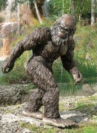 Big foot the garden yeti