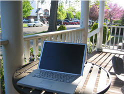 Front porch office