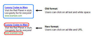 Google click change