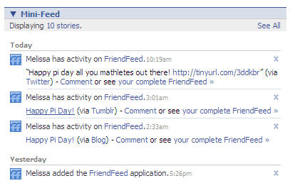 FriendFeed on Facebook
