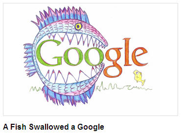 Fish swollowed google