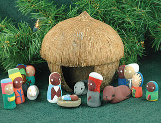 Haiti Coconut nativity