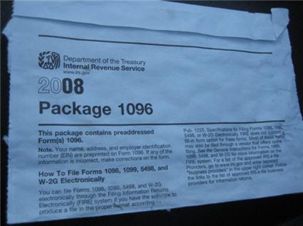 IRS form 1069